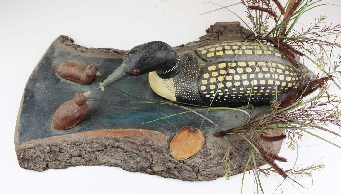 Folk art Loon group by Rupert King Jr - 4