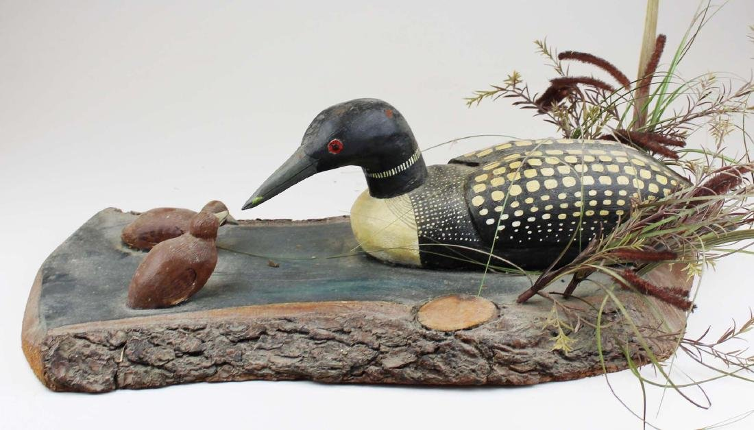 Folk art Loon group by Rupert King Jr - 5