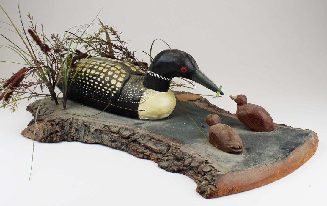 Folk art Loon group by Rupert King Jr - 8