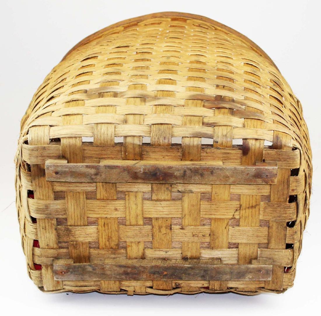 Mid 20th c pack basket. - 4