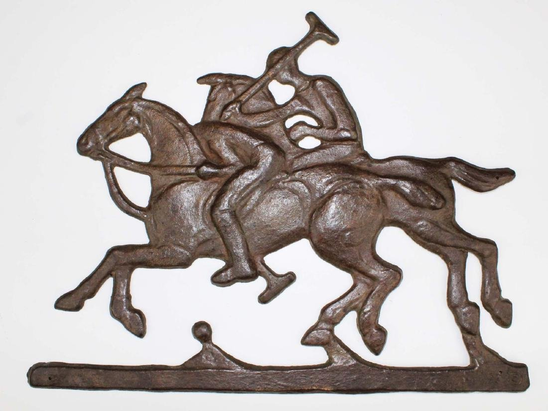 mid 20th c Harvin brass horse doorstop