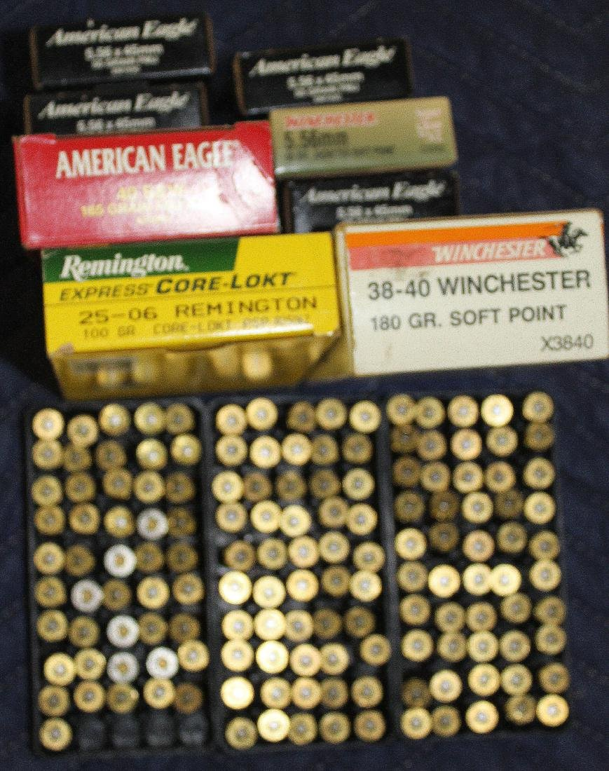 Mixed lot of ammo including .40 S&W