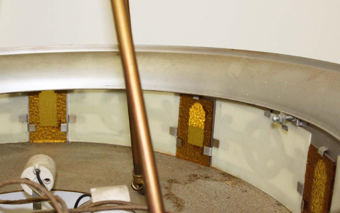6 Art Deco metal and glass light fixtures - 3