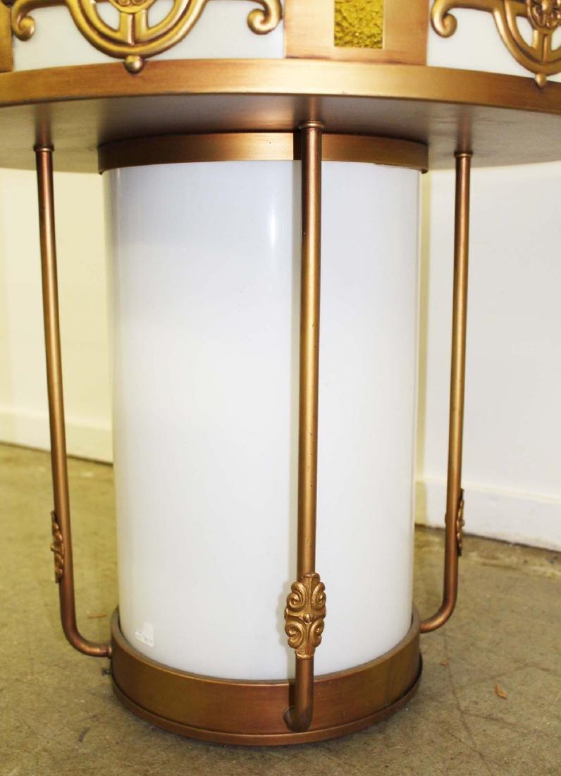 6 Art Deco metal and glass light fixtures - 5