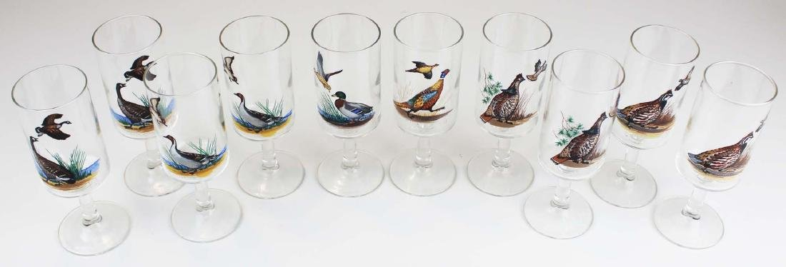 13 stemmed glasses with game birds - 3