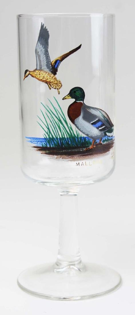 13 stemmed glasses with game birds - 4