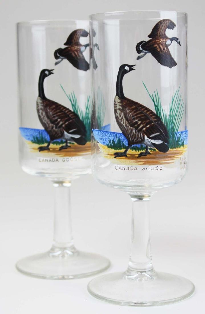 13 stemmed glasses with game birds - 5