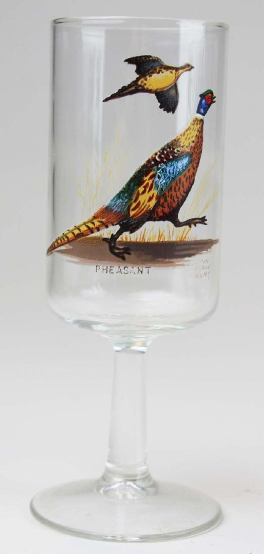 13 stemmed glasses with game birds - 6