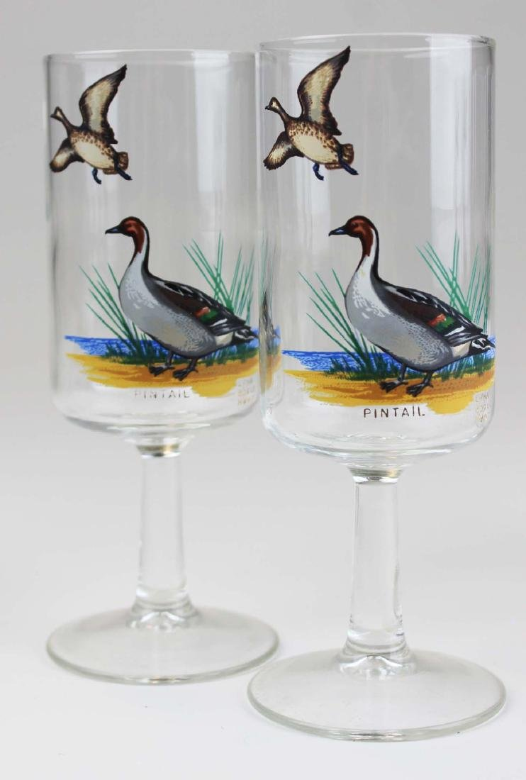 13 stemmed glasses with game birds - 7
