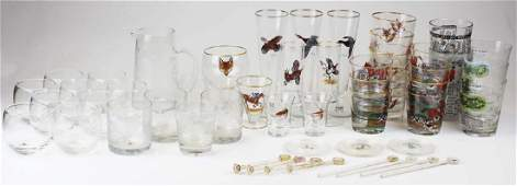 large group of various bar glassware