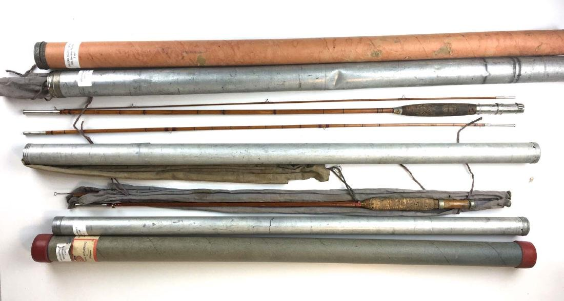A group of 5 Vintage bamboo fly rods