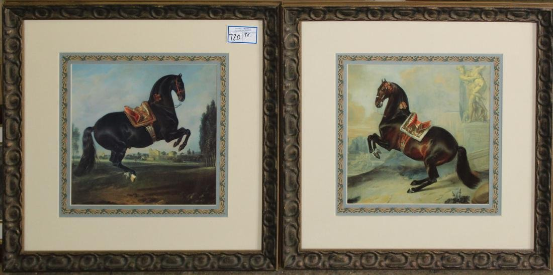 Two 20th c decorative prints of horses