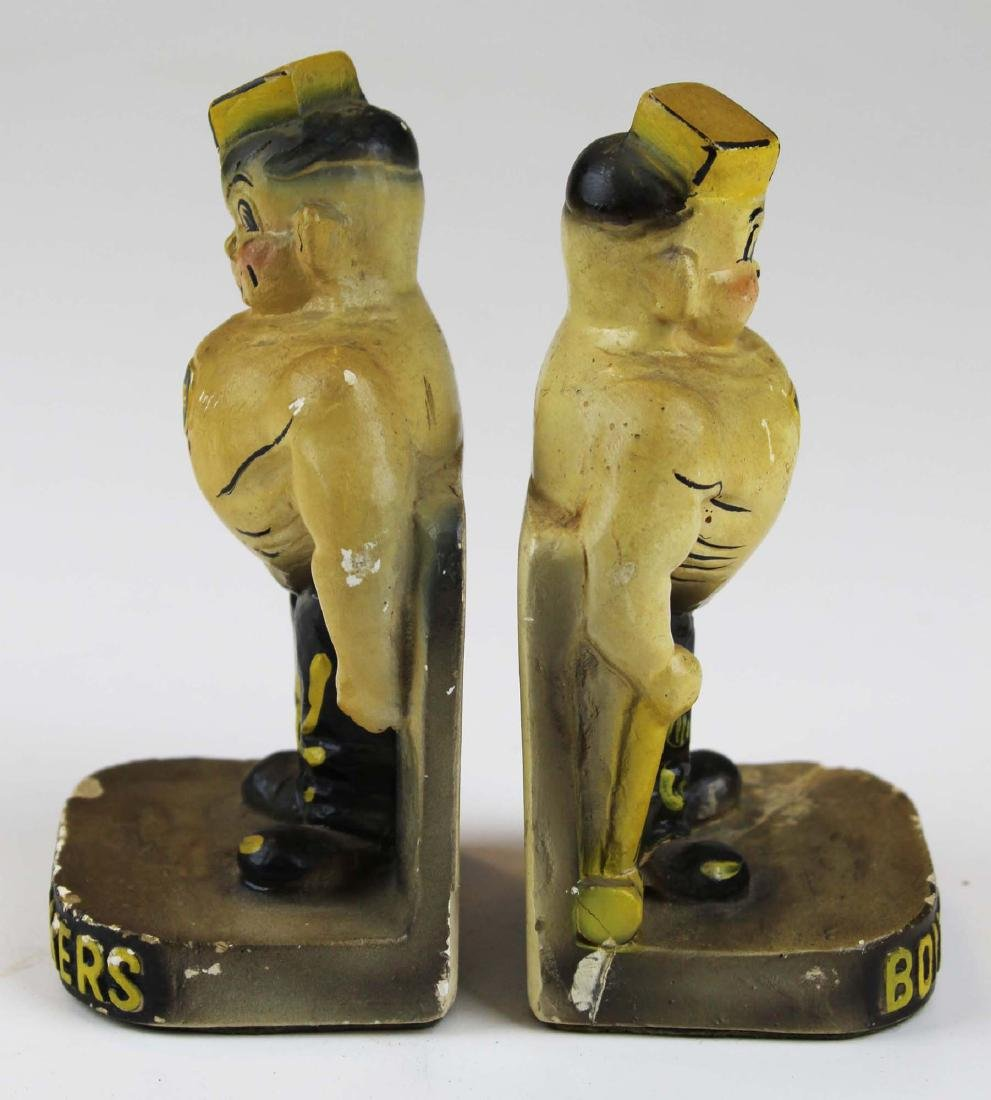 riding crop & pr of Purdue chalk bookends - 3