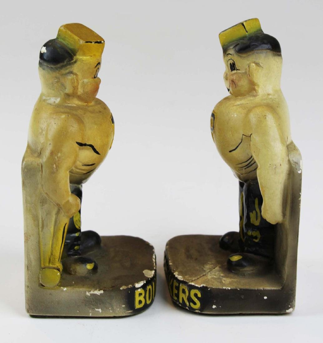 riding crop & pr of Purdue chalk bookends - 5
