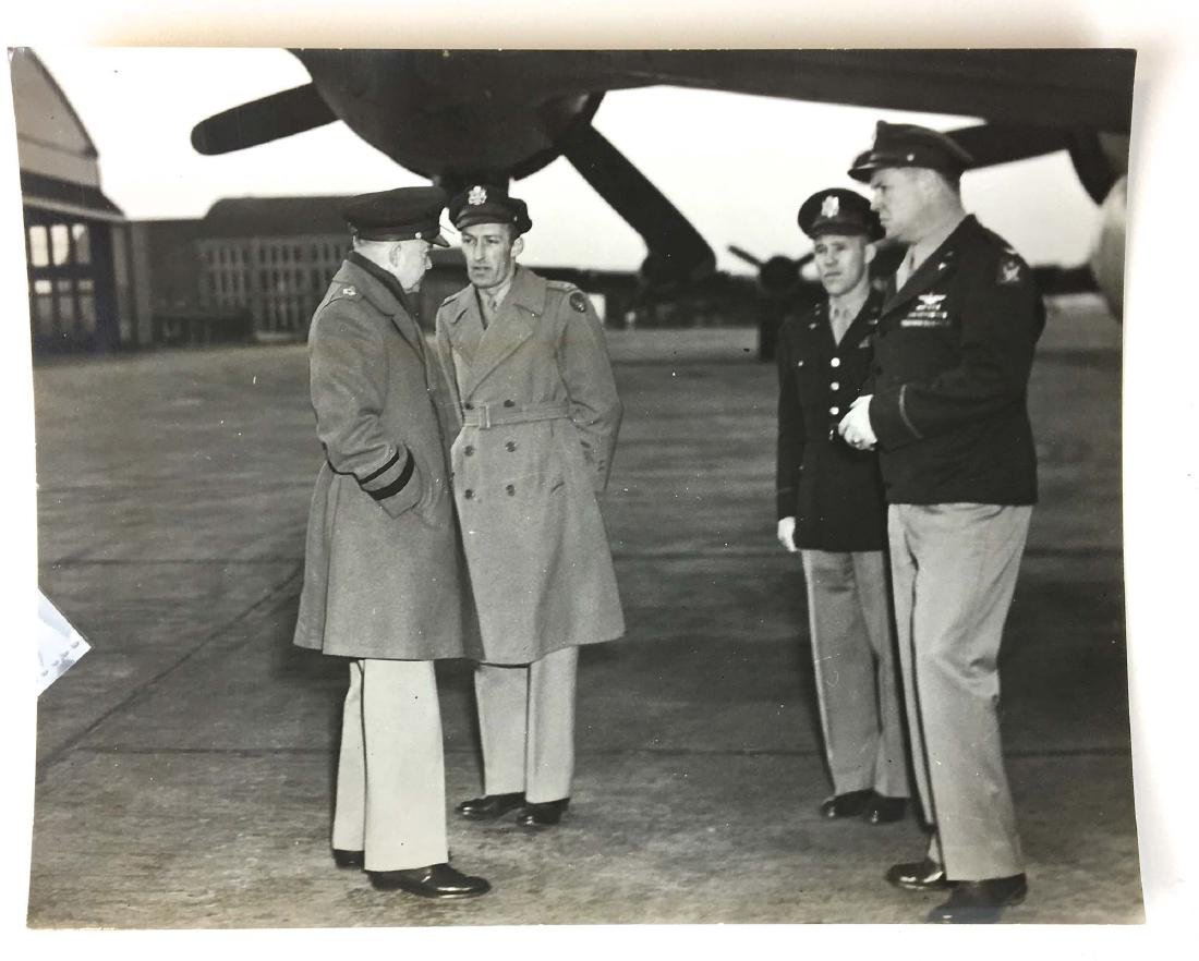Two original photos of Gen. Eisenhower Feb 1946