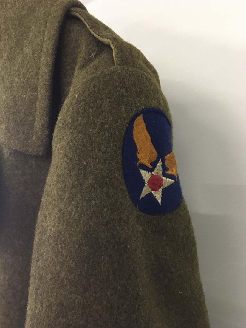 WW II US Army long green wool over coat - 3
