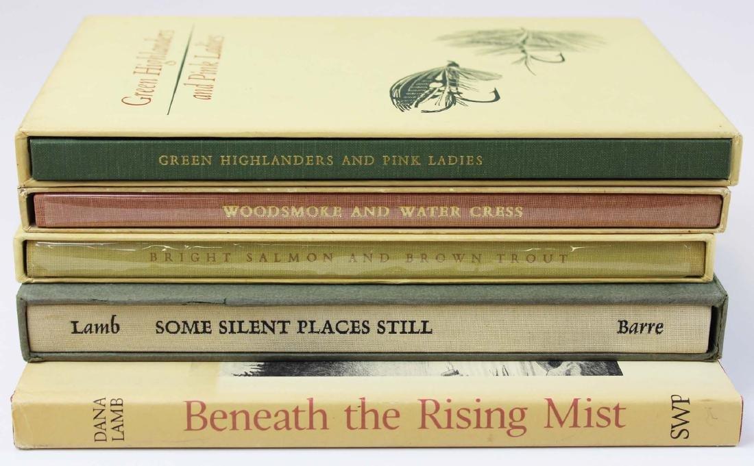 five Dana S Lamb books on fly fishing