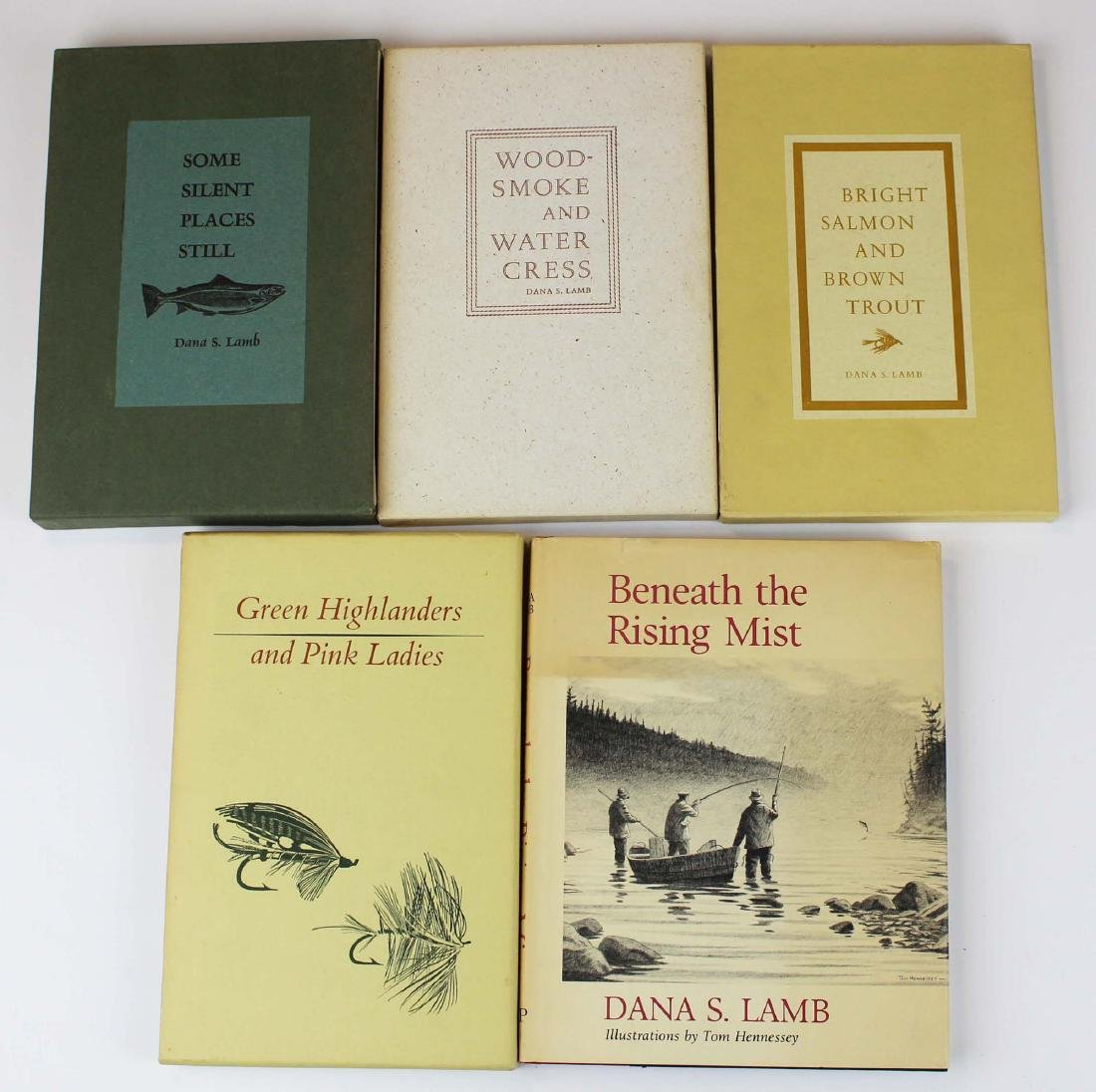 five Dana S Lamb books on fly fishing - 2