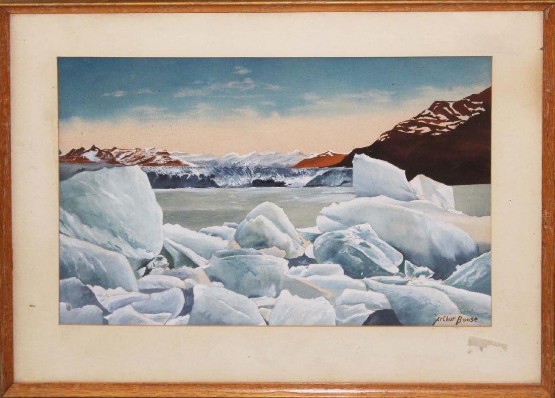 mid 20th c Arthur Boose watercolor