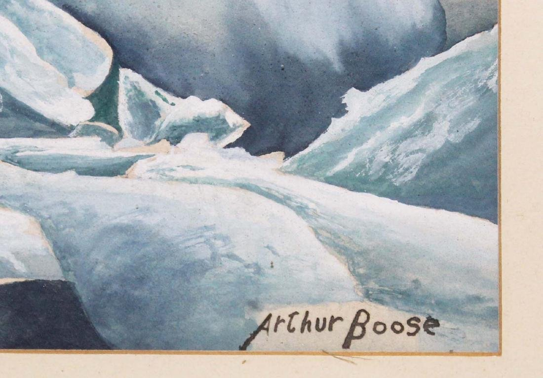 mid 20th c Arthur Boose watercolor - 2