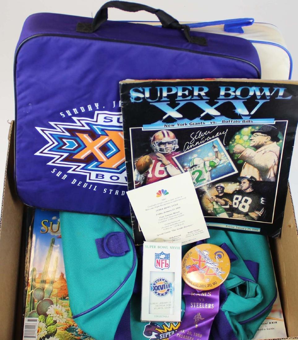 misc Superbowl memorabilia, seat cushions