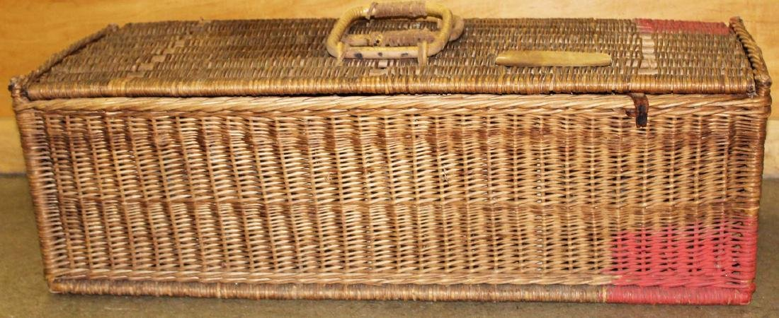 late 19th c. Wicker Racing Pigeons carrier - 4