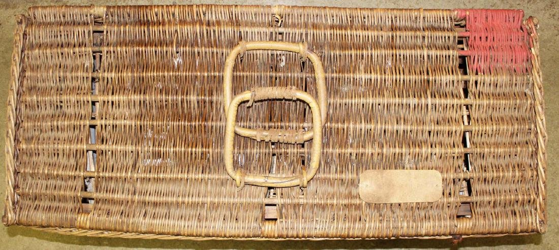 late 19th c. Wicker Racing Pigeons carrier - 5