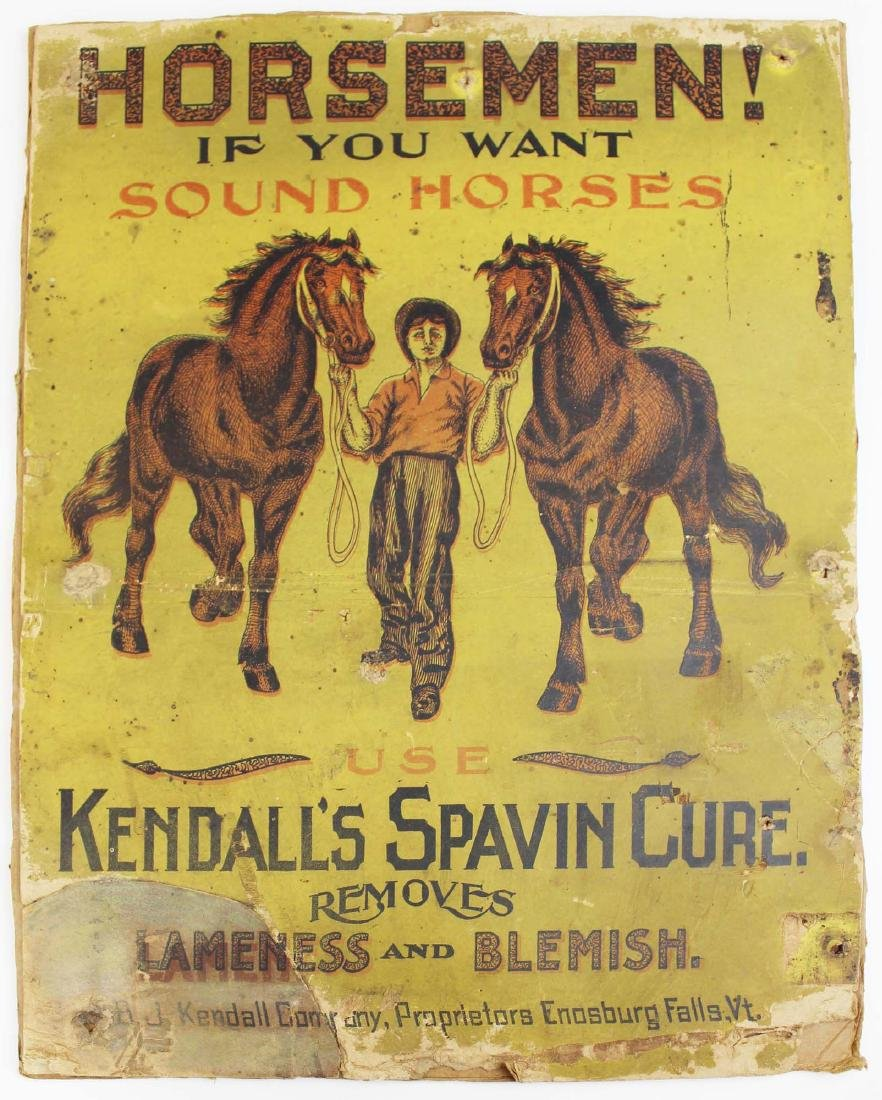 Kendall's Spavin Cure printed advertisement