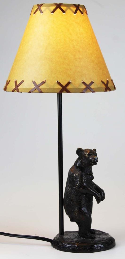 Two bronze base Adirondack style table lamps - 3