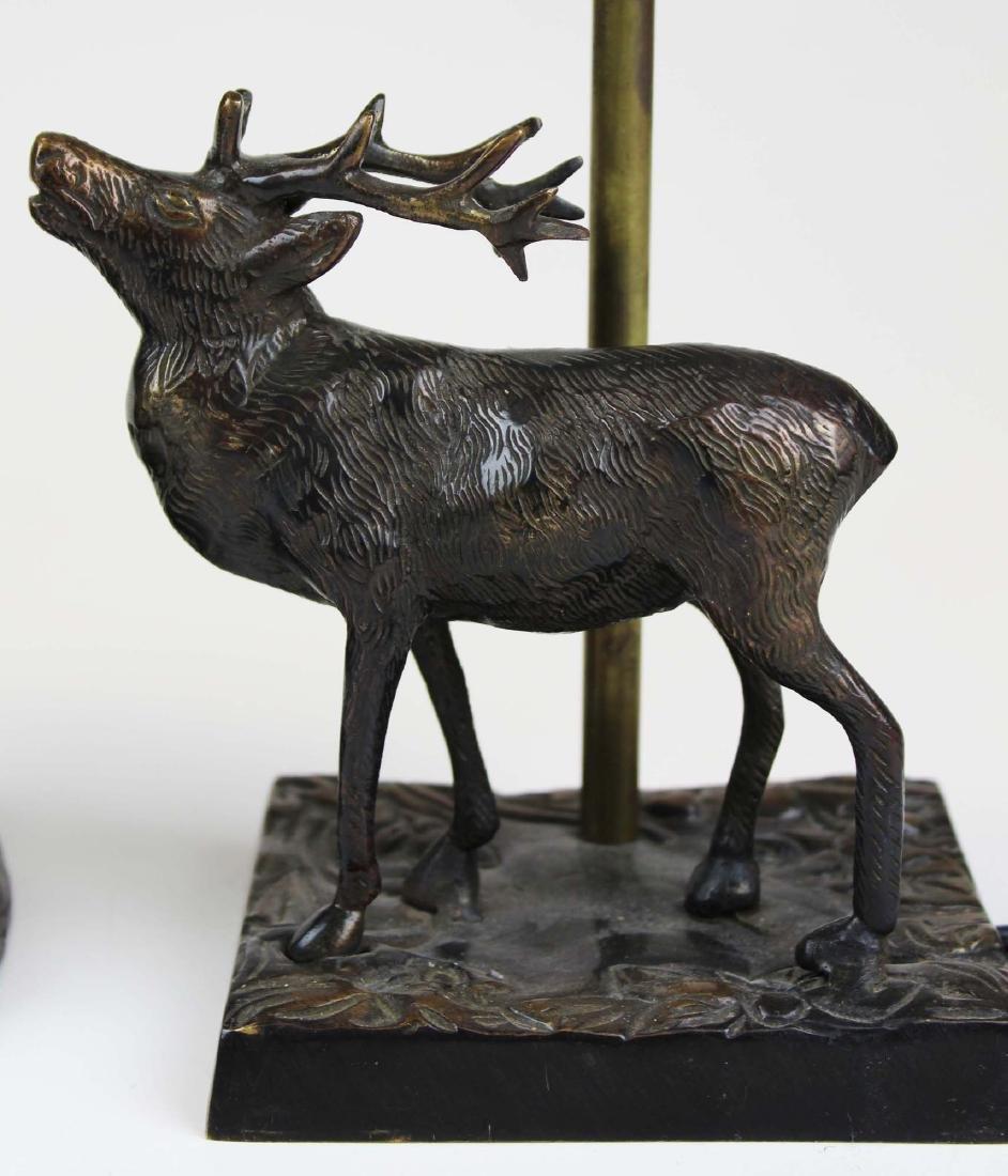 Two bronze base Adirondack style table lamps - 6