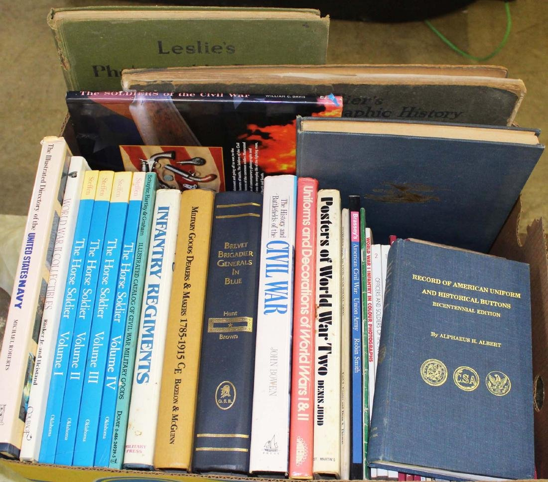 CW, WWI, WWII military reference books