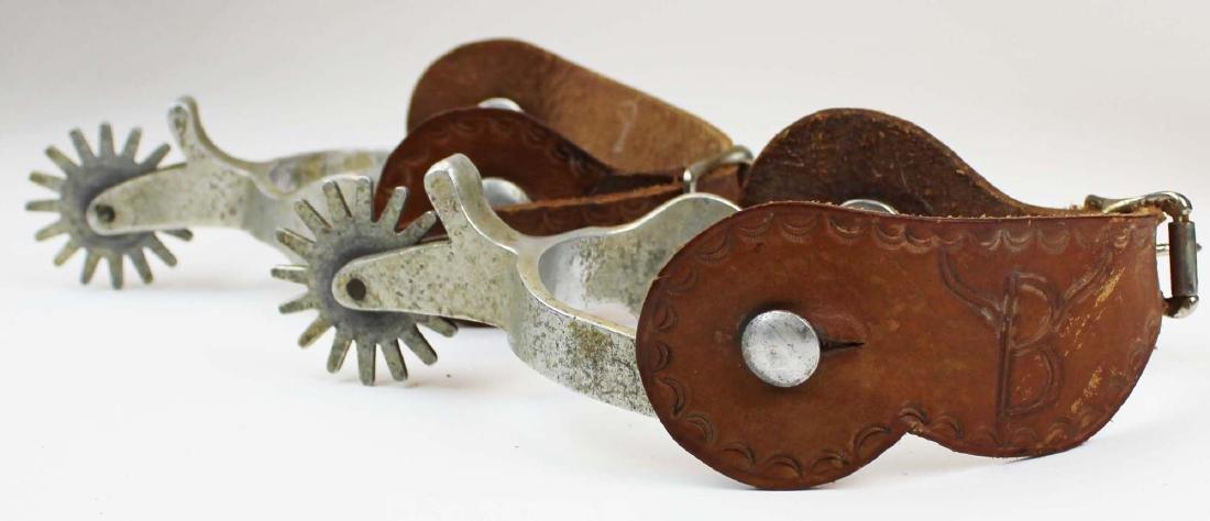 vintage Hondo cowboy boots, spurs - 3