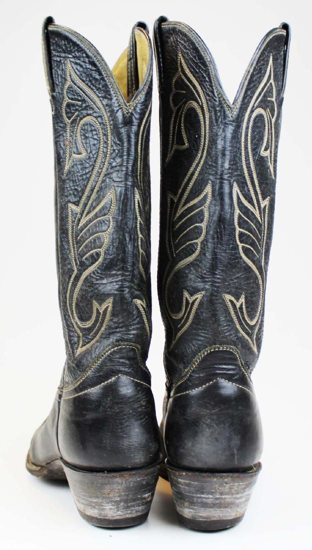 vintage Hondo cowboy boots, spurs - 4