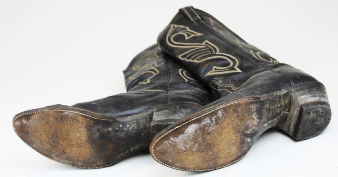 vintage Hondo cowboy boots, spurs - 7