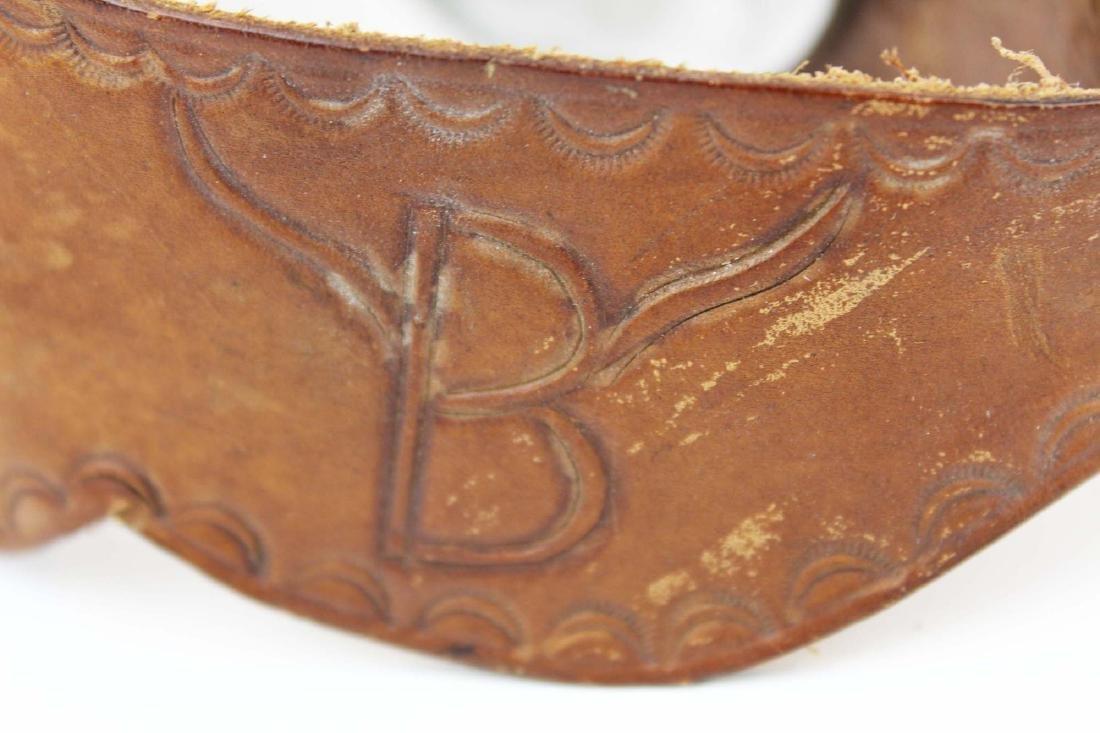vintage Hondo cowboy boots, spurs - 8