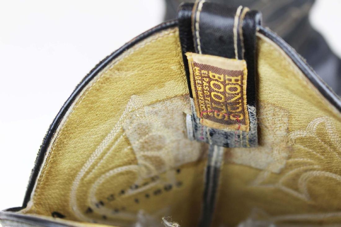 vintage Hondo cowboy boots, spurs - 9