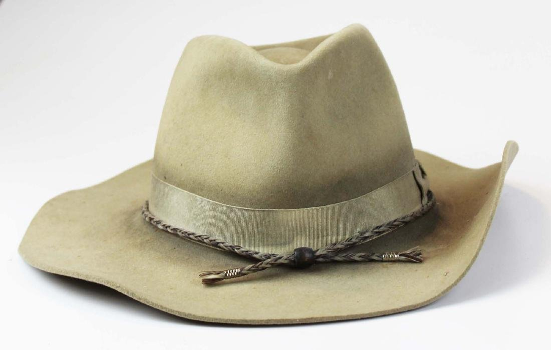Renegade felt cowboy hat with horsehair cord