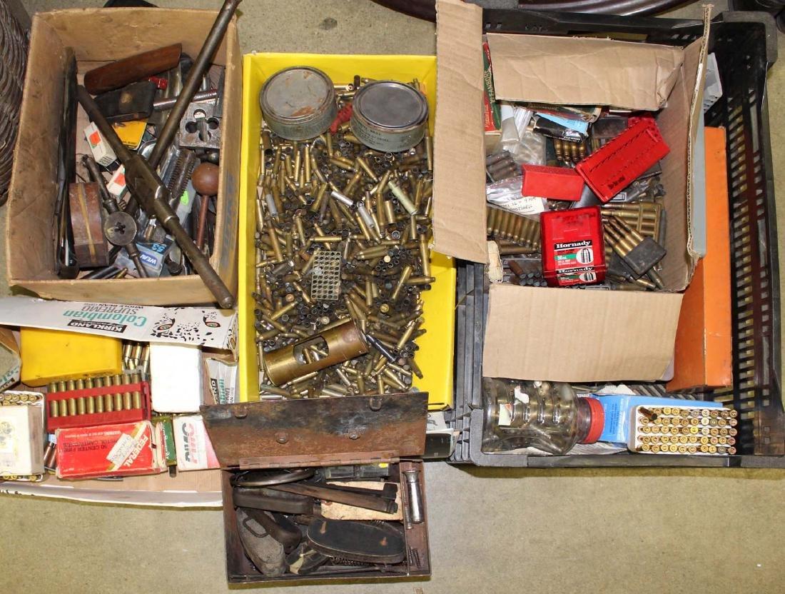 brass for reloading, misc gun gear