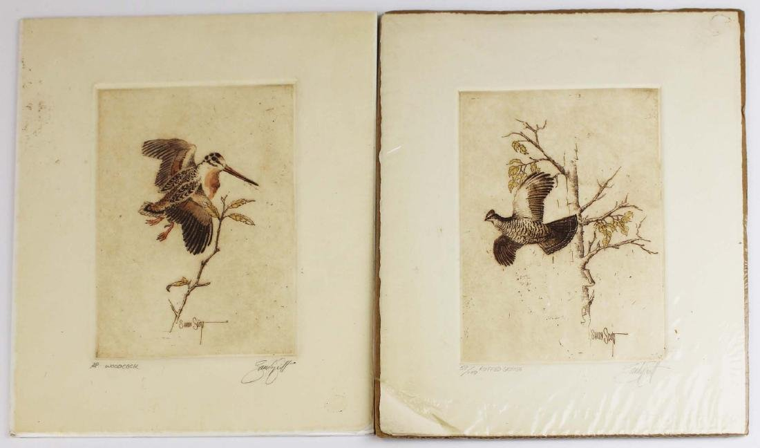 two Sandy Scott artist proof game bird prints