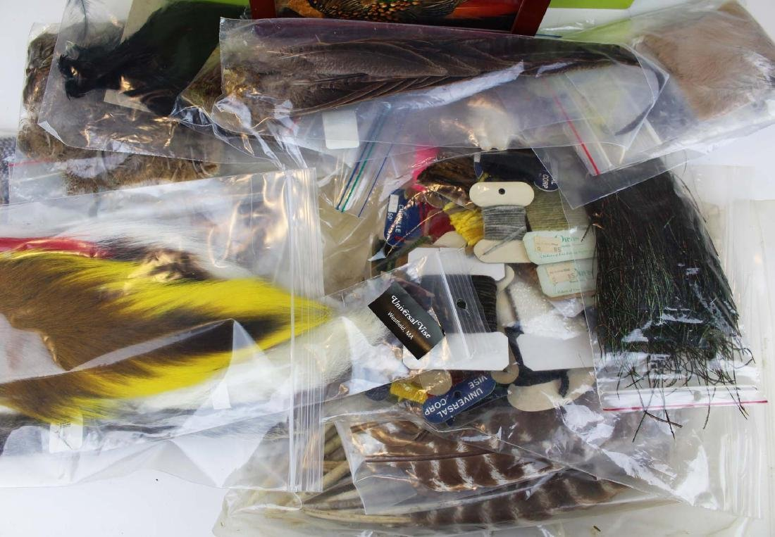 trout painting, photos, fly tying materials - 2