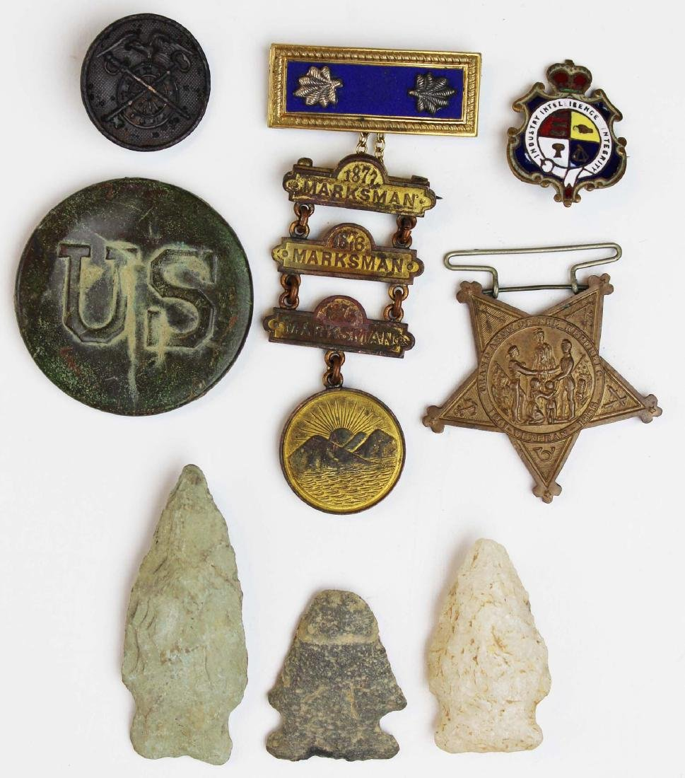 Indian Wars era medals, US battlefield relic