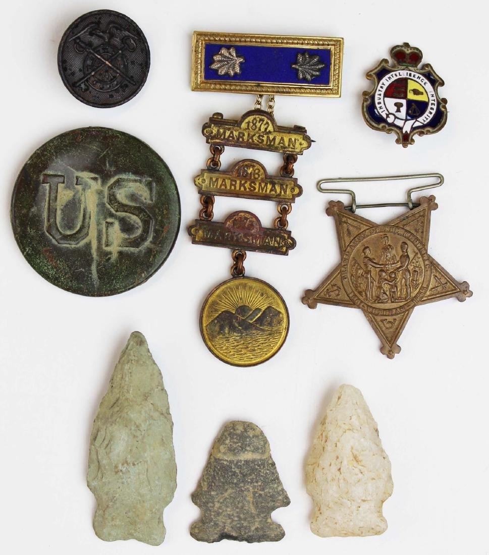 Indian Wars era medals, US battlefield relic