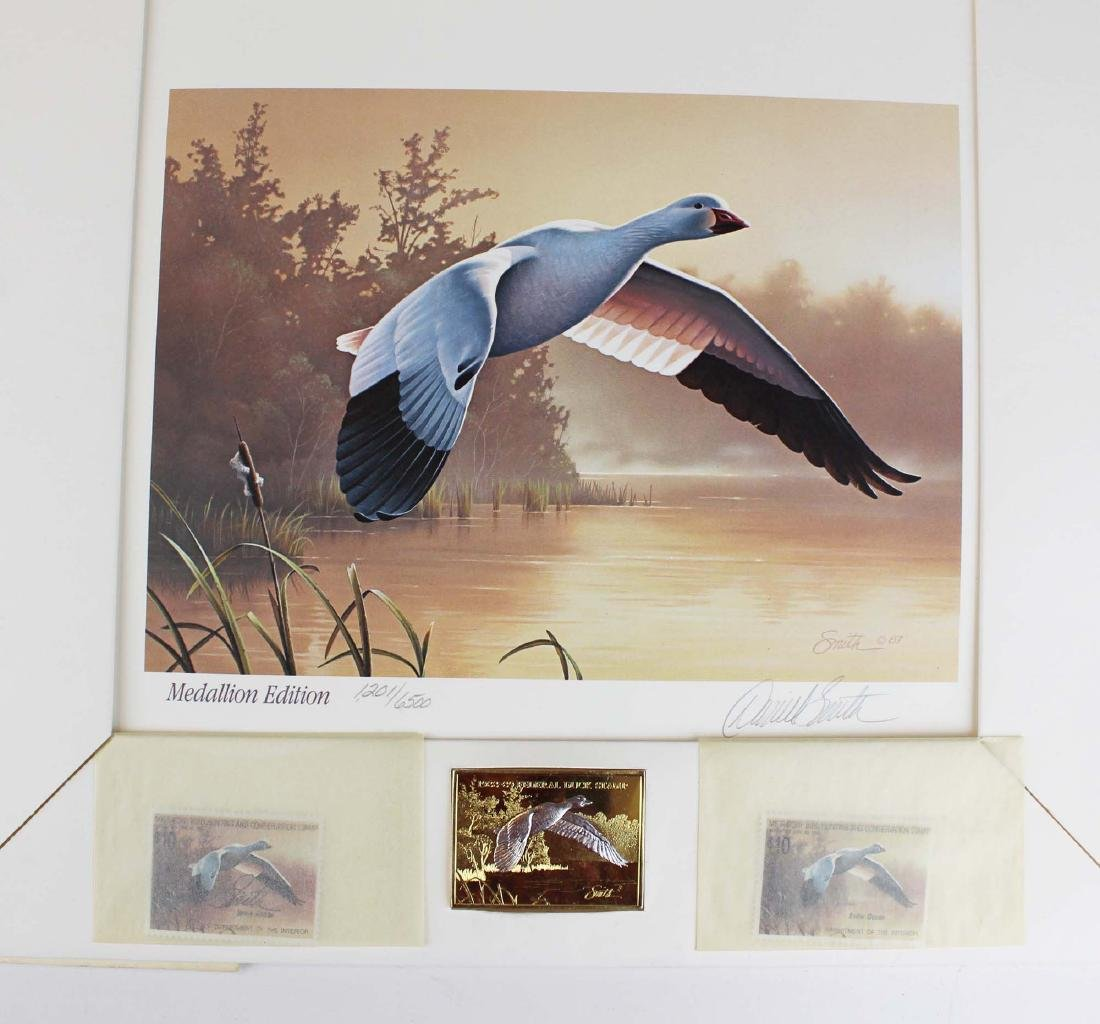 two Duck Stamp prints incl 1988 medallion ed