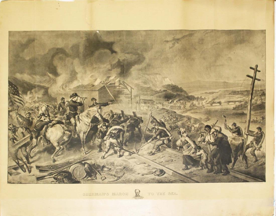 1883 Sherman's March to the Sea engraving