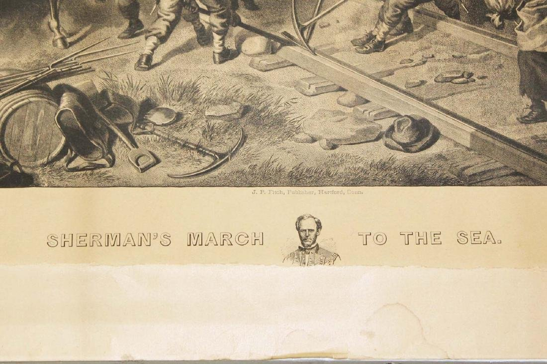 1883 Sherman's March to the Sea engraving - 2