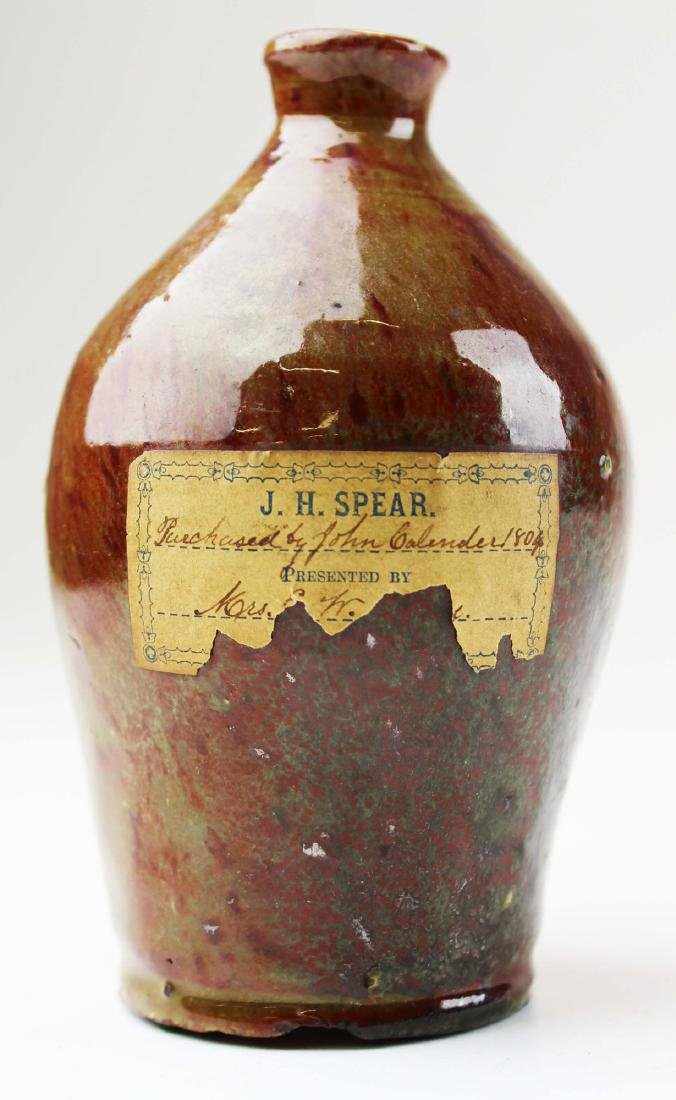 miniature East Middlebury, VT redware ovoid jug