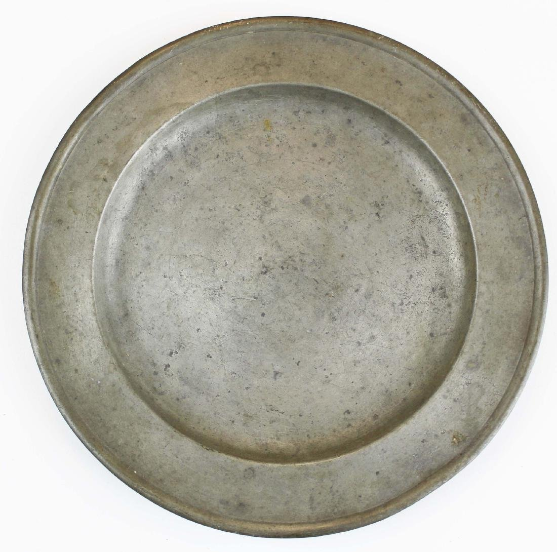Richard Lee, Springfield, VT pewter plate