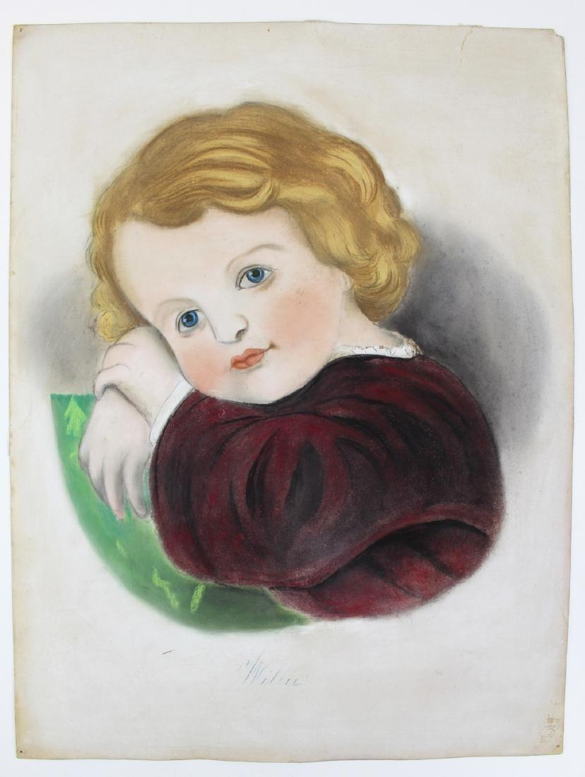 attributed James Sanford Ellsworth pastel