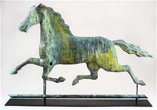 late 19th c Ethan Allen running horse weathervane