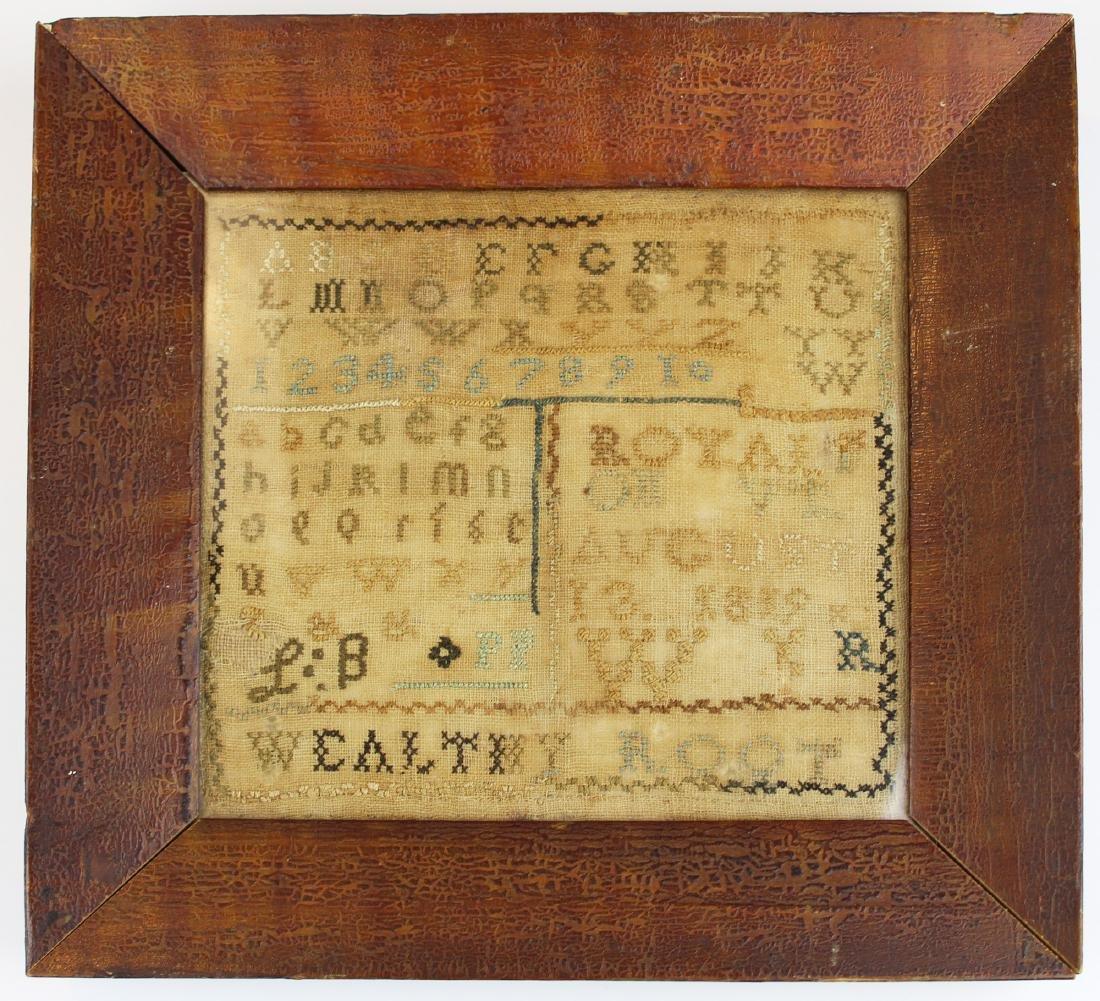 1819 Wealthy Root, Royalton, VT sampler